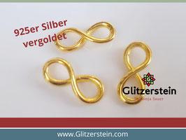 Schmuckverbinder Eternity 925 Silber vergoldet