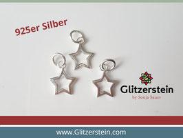 Anhänger Stern offen 925 Silber