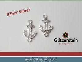 Schmuckverbinder Anker 925 Silber