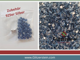 DIY Armband Basic Set Swarovski 6 mm (denim blau)