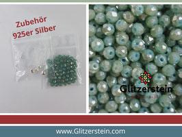 DIY Armband Basic Set Glasperlen 3x4  mm (grün)