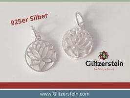 Anhänger Lotusblüte 925 Silber