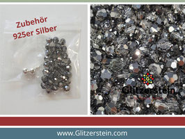 DIY Armband Basic Set Swarovski 6 mm (crystal silver night)