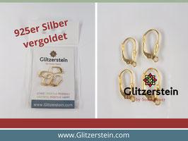 Brisuren mit Bügel 925er Silber vergoldet