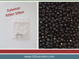 DIY Armband Basic Set Glasperlen 3x4 mm (schwarz)