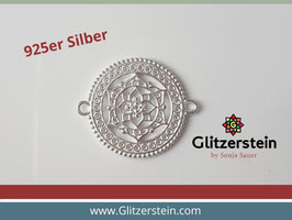 Schmuckverbinder Mandala 925 Silber gross (Variante 1)