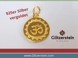 Anhänger Om 925 Silber vergoldet