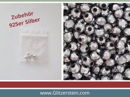 DIY Armband Basic Set Glasperlen 3x4 mm (anthrazit-silber)