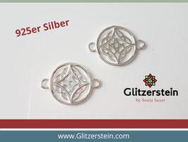 Schmuckverbinder Mandala 925 Silber (Variante 2)
