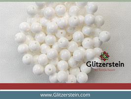 Farbgruppe 02/ Perlmutt Box weiss (18 Perlen in 8 mm)