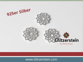 Schmuckverbinder Blume des Lebens 925 Silber (Variante 2)