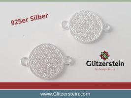 Schmuckverbinder Lebensblume 925 Silber