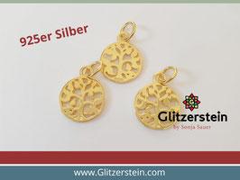 Anhänger Lebensbaum 925 Silber vergoldet