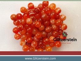 Farbgruppe 11/ Streifenachat Box orange (18 Perlen in 8 mm/ gefärbt)