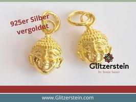 Anhänger Buddha 925 Silber vergoldet
