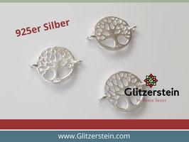 Schmuckverbinder Lebensbaum 925 Silber