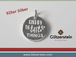 Anhänger Poesie Enjoy the little things 925 Silber