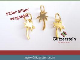 Anhänger Palme 925 Silber vergoldet
