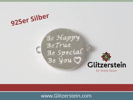 Schmuckverbinder Be Happy 925 Silber