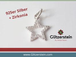 Anhänger Stern mit Zirkonia 925 Silber