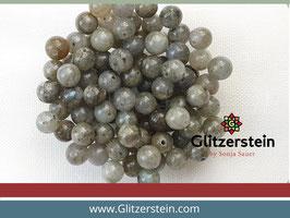 Farbgruppe 07/ Labradorit Box grau-grün (18 Perlen in 8 mm)