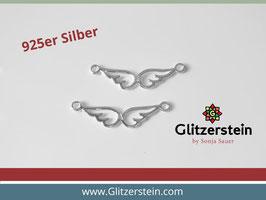 Schmuckverbinder Doppelflügel 925 Silber