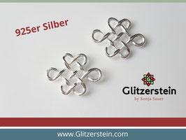 Schmuckverbinder Keltischer Knoten 925 Silber