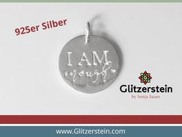 Anhänger I AM enough 925 Silber
