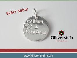 Anhänger Braut & Team Braut 925 Silber