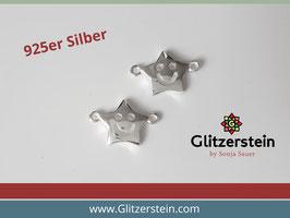 Schmuckverbinder Lachender Stern 925 Silber
