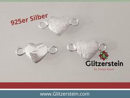 Schmuckverbinder Herz 925 Silber