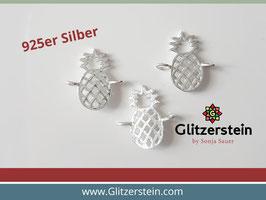Schmuckverbinder Ananas 925 Silber
