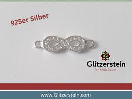 Schmuckverbinder Eternity 925 Silber mit Zirkonia
