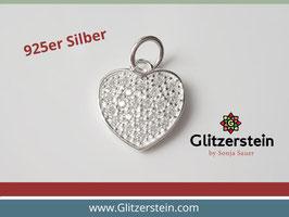 Anhänger Herz 925 Silber mit Zirkonia-Steinen