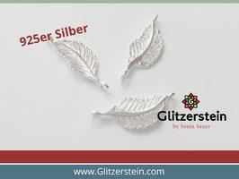 Schmuckverbinder Feder 925 Silber