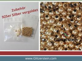 DIY Armband Basic Set 925 Silber vergoldet (4 mm)