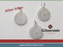 Anhänger Mandala 925 Silber 12 mm