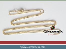 Kugelkette 925er Silber vergoldet (70 cm, 80 cm, 90 cm)