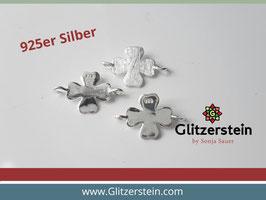 Schmuckverbinder Kleeblatt 925 Silber