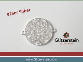 Schmuckverbinder Mandala 925 Silber gross (Variante 2)