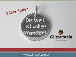 Anhänger Poesie Die Welt ist voller Wunder 925 Silber