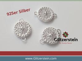 Schmuckverbinder Ornament 925 Silber