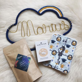 COFFRET NAISSANCE - nuage à personnaliser - créations artisanales - made in France