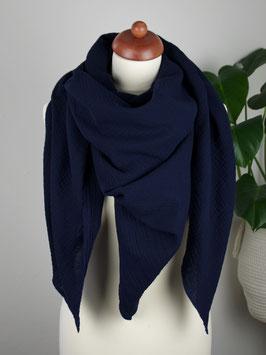 Musselintuch XXL für Frauen - uni dunkelblau