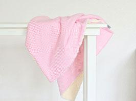 Babydecke rosa vichy