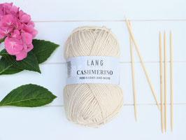Strickwolle Cashmerino beige