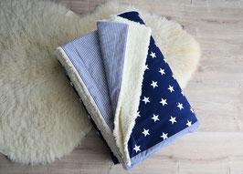 Kuscheldecke XL dunkelblau Teddyfell