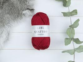 Baumwollgarn Quattro kühles rot 0087