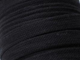 Flachkordel schwarz 15mm