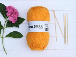 Sockenwolle Super SOXX gelborange